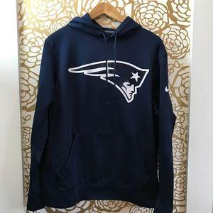 New England Patriots Logo Blue Hooded Sweatshirt